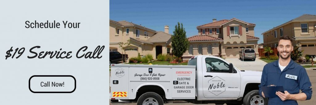 Service Call 1024x341 Noble Garage Door And Gate Repair Glendale