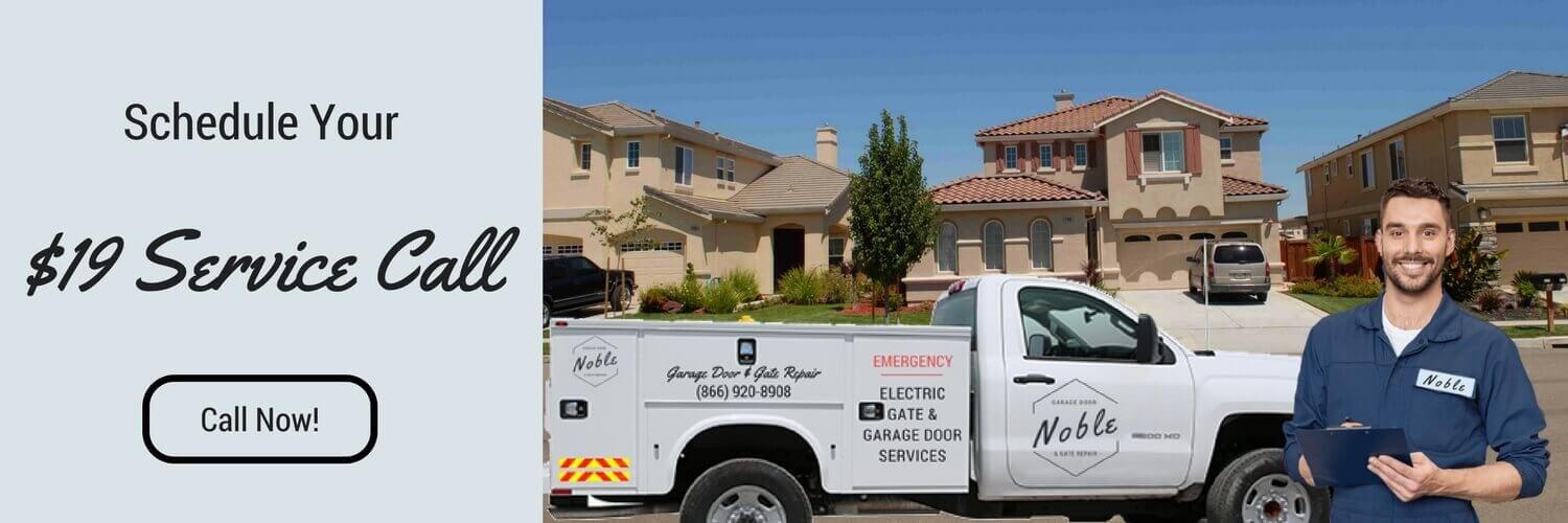 Service Call Noble Garage Door & Gate Repair Irvine